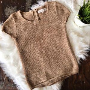 ANN TAYLOR LOFT Zoe Metallic SS Sweater XXSP EUC